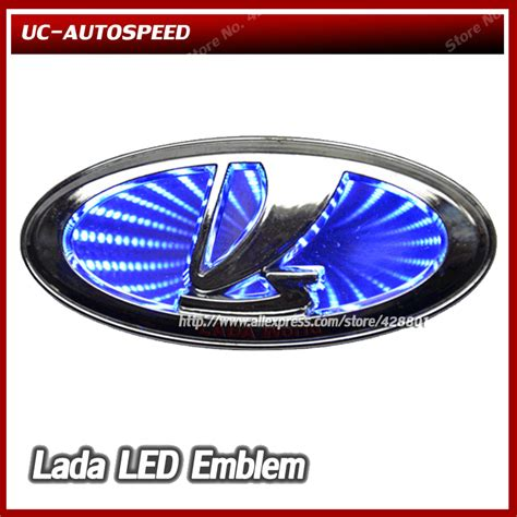 lada led auto car logo 3d lada led emblem badge light l sticker for