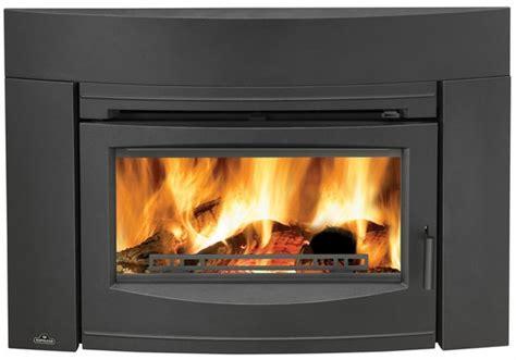fireplace inserts wood burning napoleon epi3c wood burning contempory black front