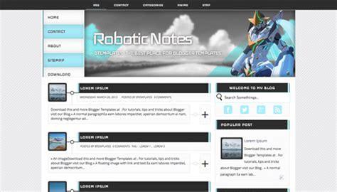 free blogger templates for teachers robotic notes blogger template btemplates