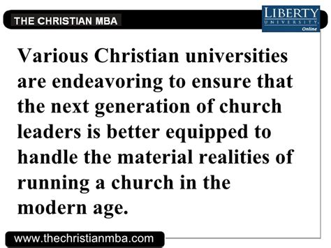 Our Church As An Mba by Mbas For Clergy Workers