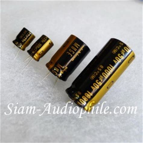 kapasitor audio grade nichicon muse kz audio grade electrolytic capacitors siam audiophile แหล งรวมอ ปกรณ diy