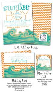 surfer baby shower baby on board surfer baby shower invitations surfer invites box