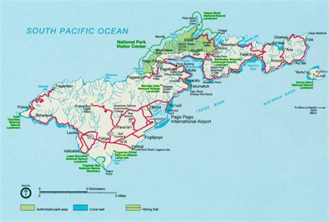 map of american samoa road and relief map of tutuila island american samoa