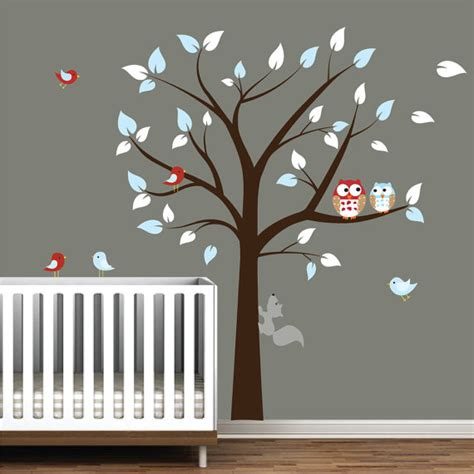 Etsy Wall Decals Nursery Children Vinyl Wall Decal Nursery Tree Wall Stickers With