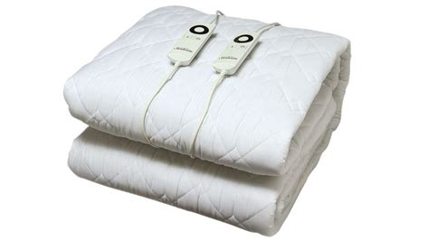 Heated Comforter by Sunbeam Sleep Quilted Electric Blanket King Bed