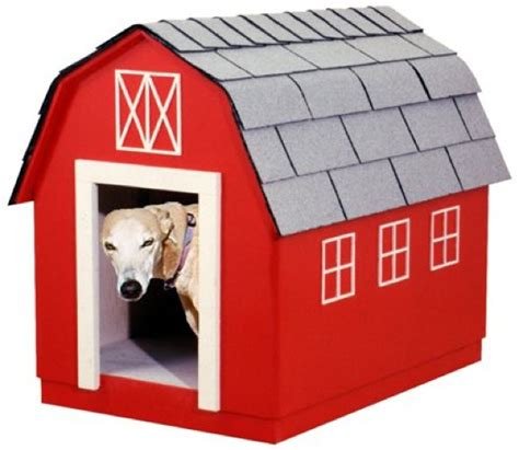 barn dog house plans r14 1636 barn style dog house vintage woodworking plan woodworkersworkshop