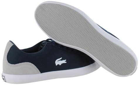 lacoste lerond s canvas fashion sneakers shoes low top