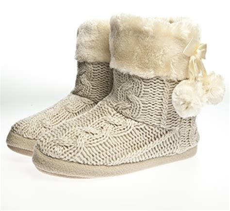 womans slipper boots slippers s slipper boots faux fur lined with