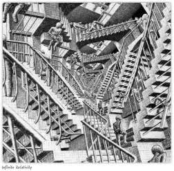 escher treppe escher s infinite relativity original image by m c
