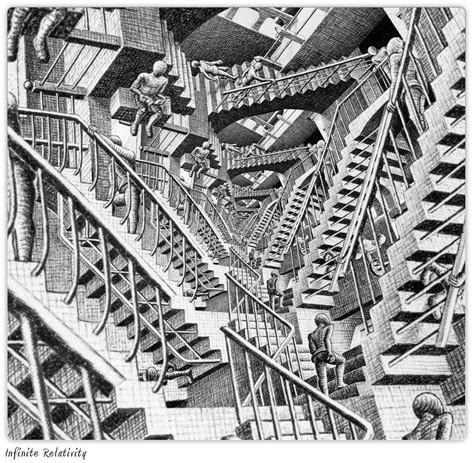 M C Original escher s infinite relativity original image by m c