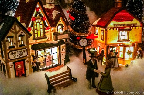 christmas village mini photobalcony