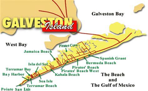 map of galveston island texas map galveston texas tx