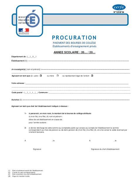 Exemple De Lettre De Procuration G N Rale modele procuration en espagnol document