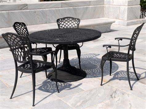 rod iron outdoor furniture cast iron patio set table chairs garden furniture