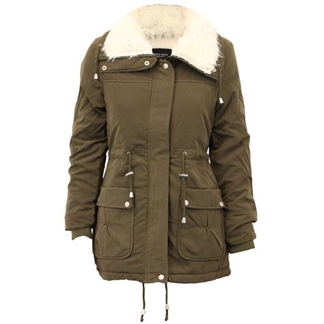 Seoul Blazer Jaket Coat parka jacket brave soul womens coat quilted padded sherpa winter ebay