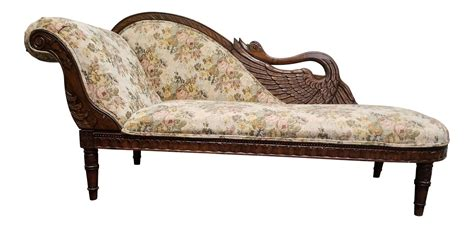 old fashioned chaise lounge antique victorian floral swan chaise lounge victorian