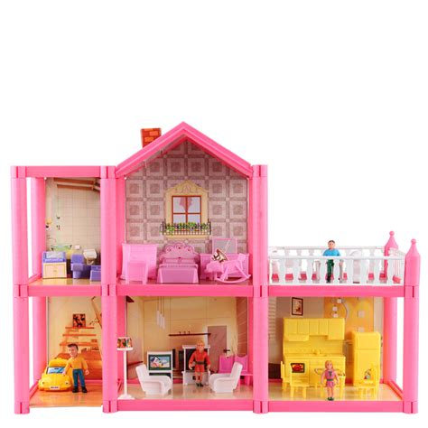 doll house play online free shipping diy assemble villa doll house toys children