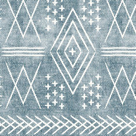 (med scale) vintage moroccan dusty blue fabric