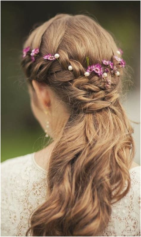 Geflochtene Haare Hochzeit by Wedding Hairstyles Half Up Half With Curls And Braid