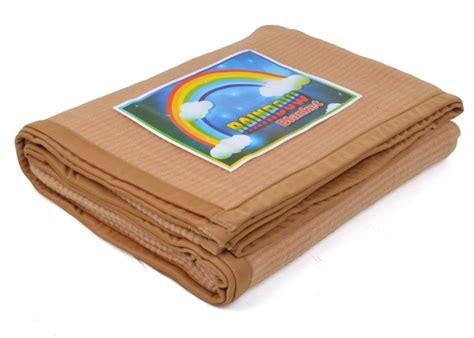 Arins Rainbow Biru Tua Mukena selimut rainbow line coklat uk 150 215 190 grosir selimut murah