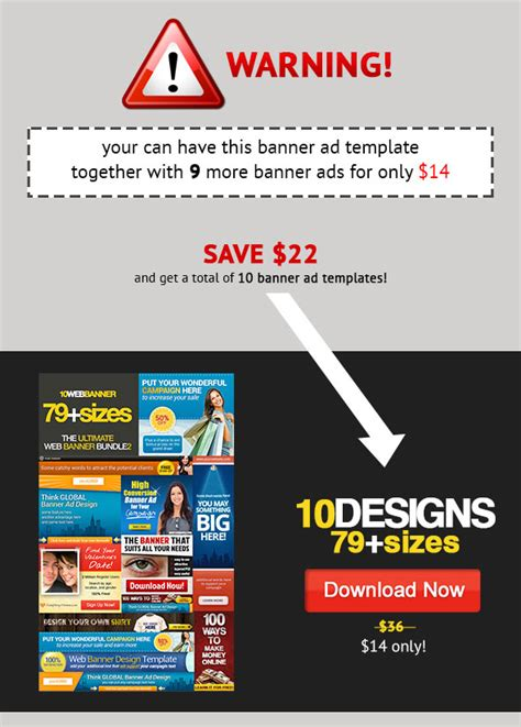free banner ad templates make money banner ad template graphicriver