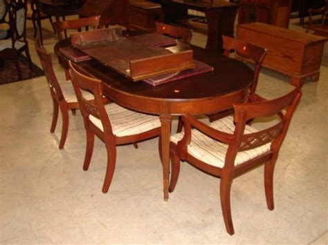 341 heritage henredon dining table chairs lot 341