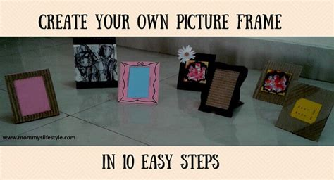 home decor photo diy photo frame with cardboard home decor simplified