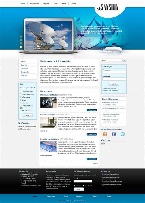 drupal theme view block sanshin premium drupal business theme