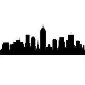 Trendy Office Decor Indianapolis Indiana Skyline Decals Wall Decor