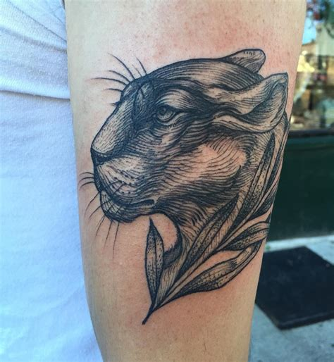 scalp tattoo realistic panther www pixshark images