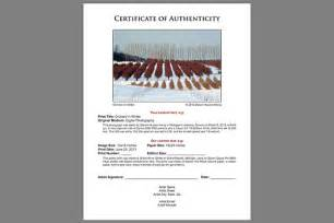 Certificate Of Authenticity Photography Template Certificates Of Authenticity Grand River Giclee