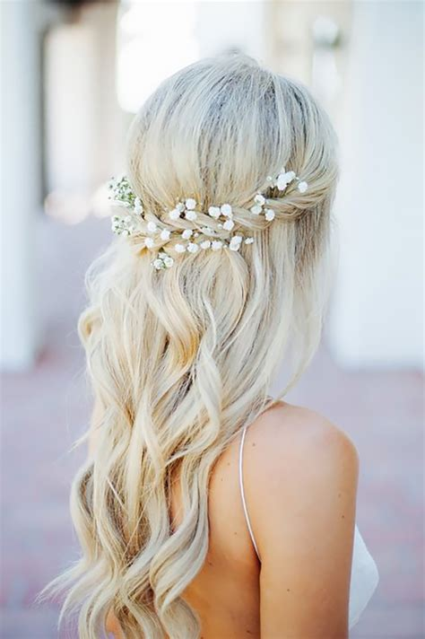 Wedding Hair Half Up Accessories by 38 Bridesmaid Hairstyles Updos Half Up Half Curls