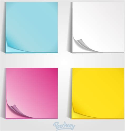 posting template free colorful post it templates free vector in adobe