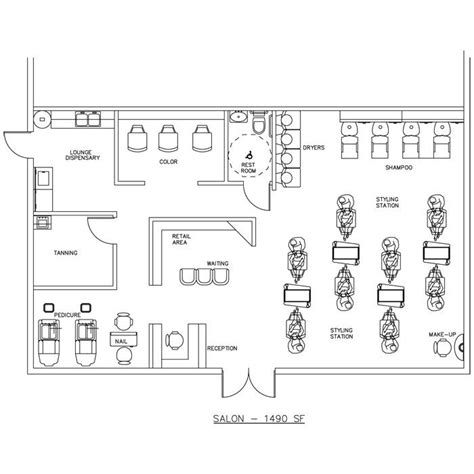 floor plan salon 7 best salon floor plans millwork drawings images on