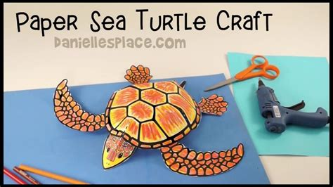How To Make A Turtle Out Of Paper - sea turtle paper craft