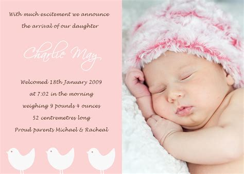 Text Baby Announcement Petit Paper Blossom Creations