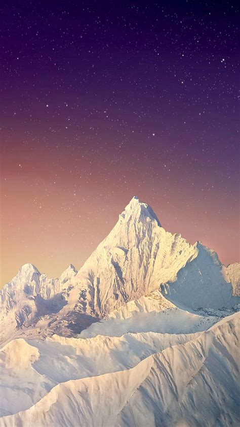 wallpaper for iphone mountains snow mountain peak stars sky iphone 5 wallpaper iphone
