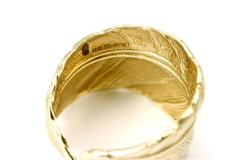 solid gold feather ring by frillybylily
