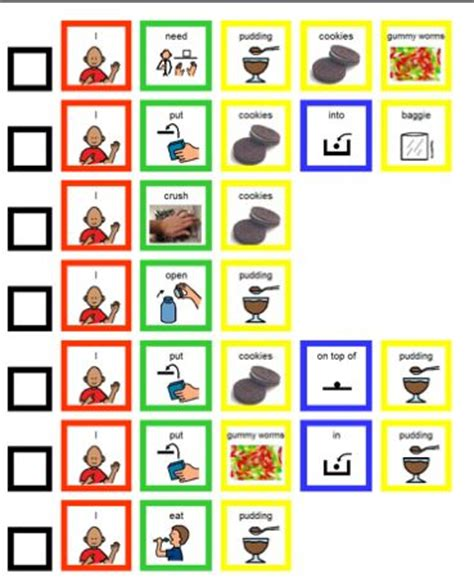 printable boardmaker recipes 17 best images about pecs resources and visuals on