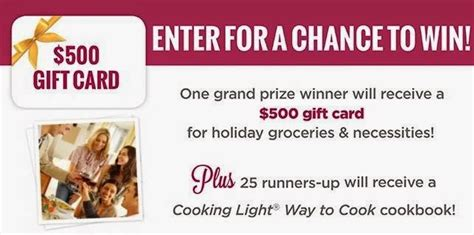 Cooking Light Sweepstakes - cooking light holiday hostess must haves sweepstakes sweepstakesbible