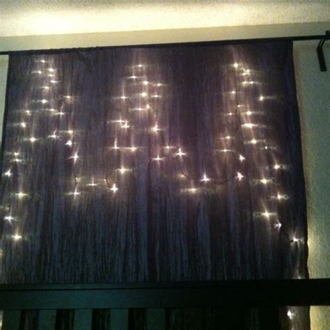 christmas lights behind sheer curtain pin by rachel riel on home decor pinterest