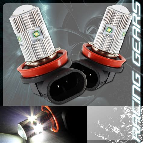 2x porsche toyota cree h11 white 5 led 25w projector low beam fog lights bulbs ebay