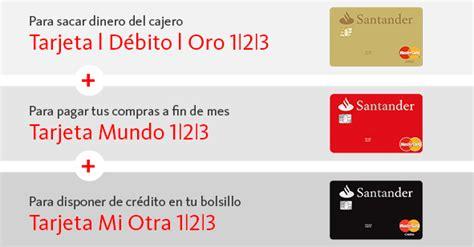 tarjetas banco santander banco santander