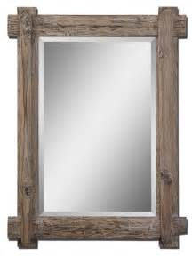 interior rustic wooden mirror frames appear with simple