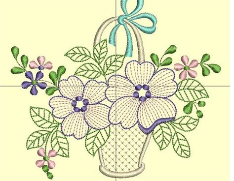 dibujos para bordar canasta de flores moldes pinterest patrones and as