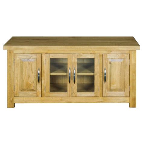 Hshire Tv Cabinet 4 Doors Solid Wood Entertainment Cabinet With Doors