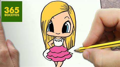imagenes kawaii 365 bocetos como dibujar barbie kawaii paso a paso dibujos kawaii