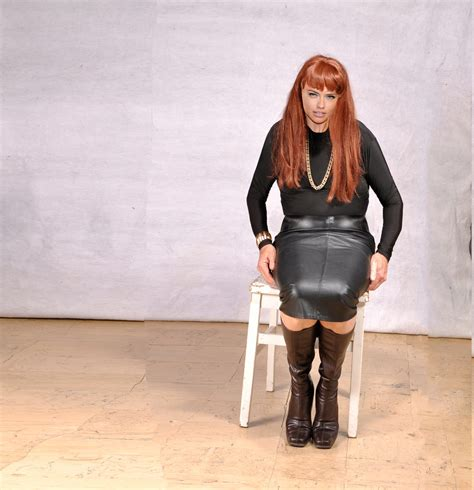 leather skirt and boots rallie flickr