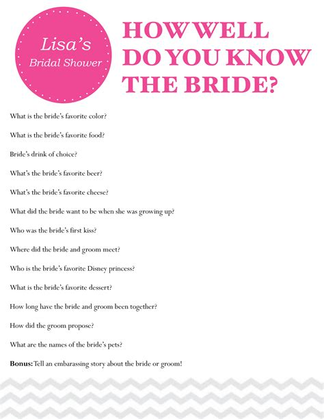 Bridal Shower Questions by Photo Bridal Shower Questions For Image
