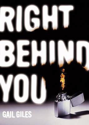 right behind you by gail giles.   bloggers heart books